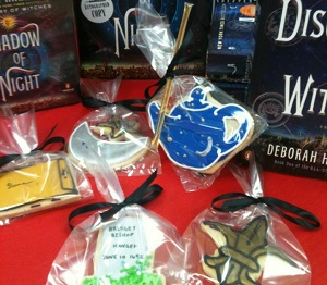 A fan made sugar cookies in celebration of Deborah Harkness!