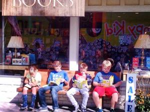 Kids reading the new Diary of a Wimpy Kid - November 2013